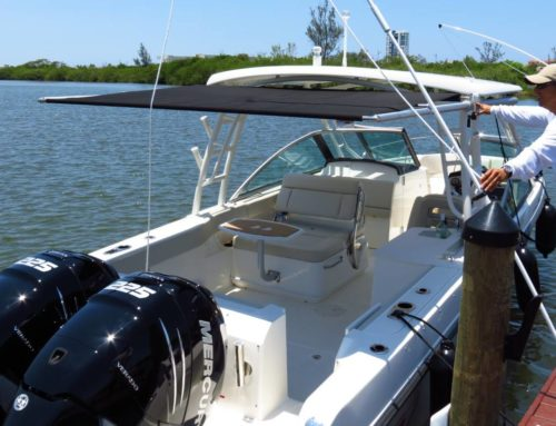 Boston Whaler 270 Vantage with Retractable Shade Installation
