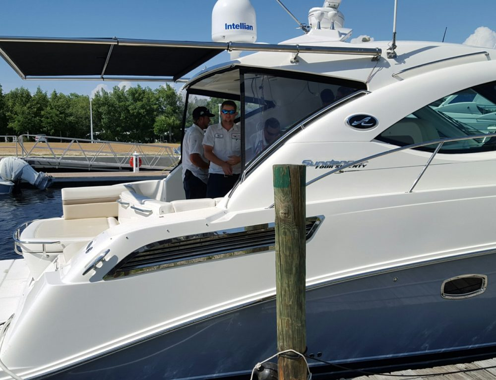2012 Sea Ray 470 Sundancer SureShade Sunshade Installation