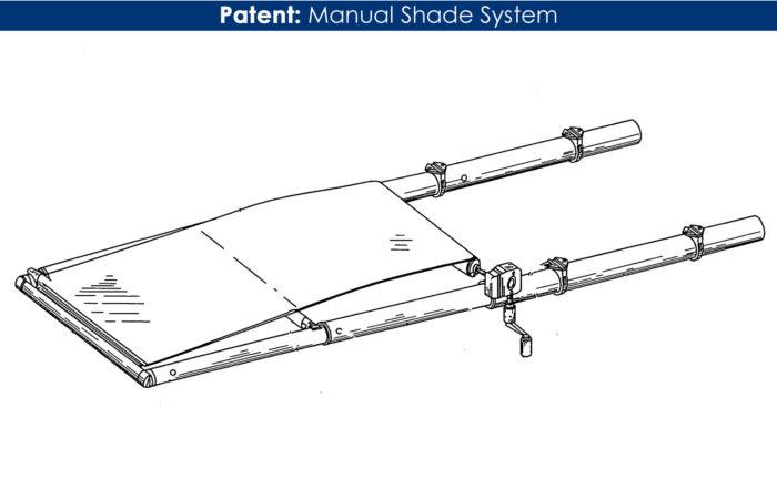 Patent MTF manual shade
