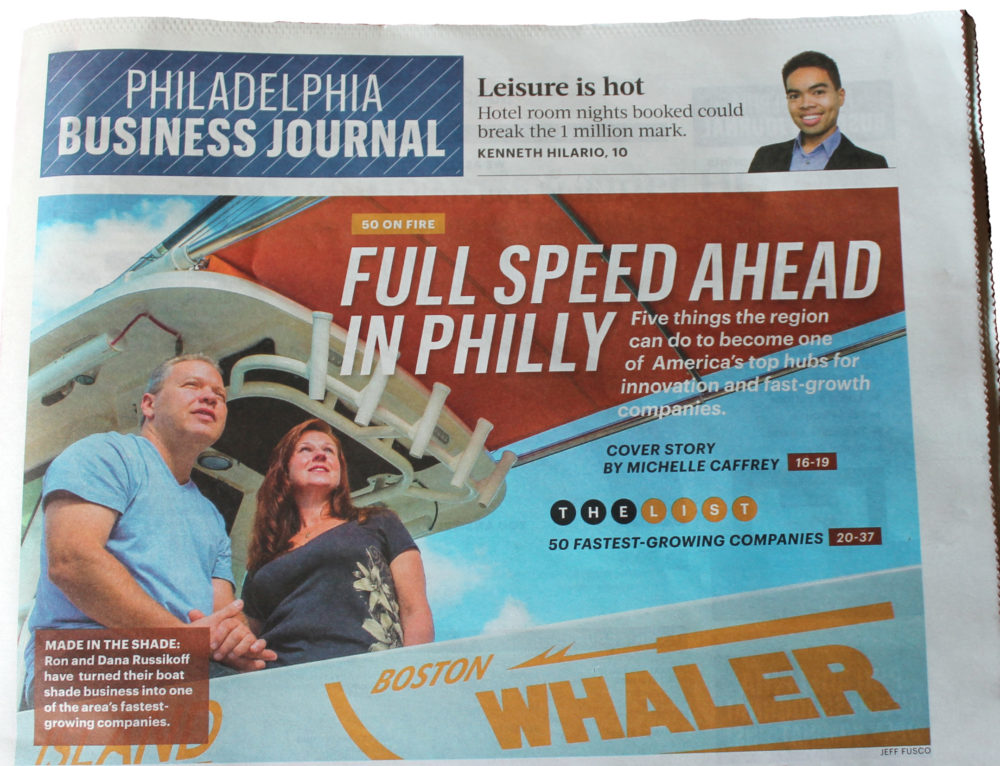 """SureShade Ranks #6 in Philadelphia Business Journal's """"50 on Fire in Philly"""""""