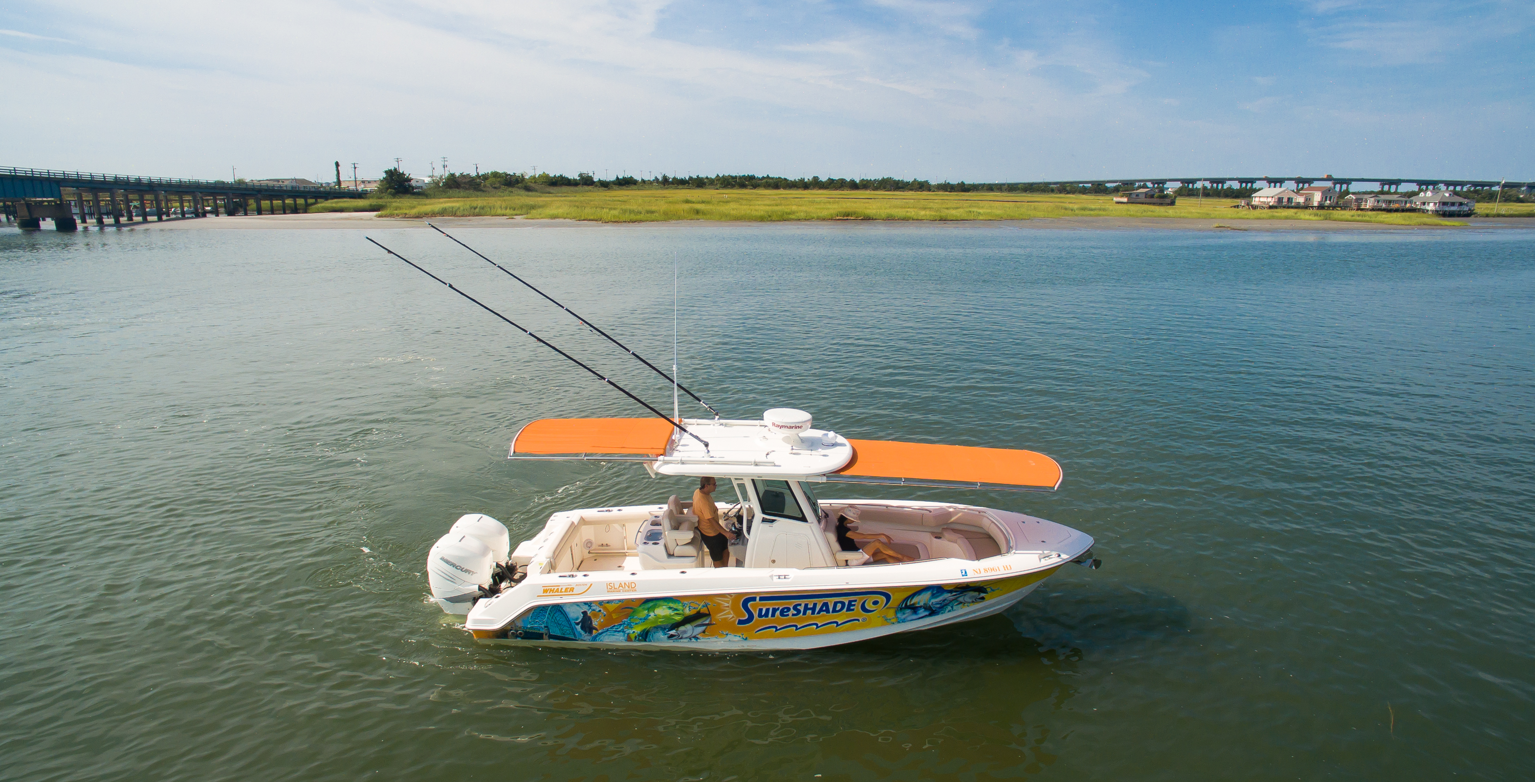 Sureshade Extending The Experience Telescoping Boat Shades