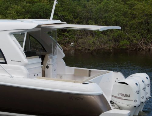 First Look Photos of 2016 Intrepid 410 Evolution with Shade