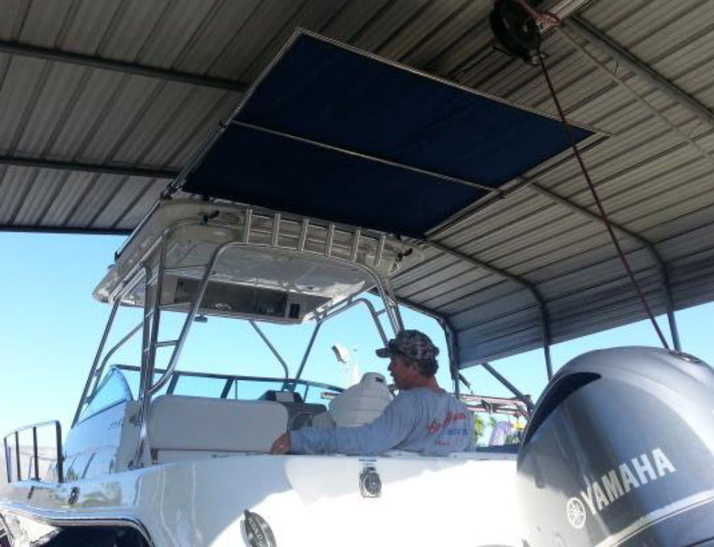 Robalo Boats R305 Gets Shade Upgrade with Aftermarket SureShade Installation