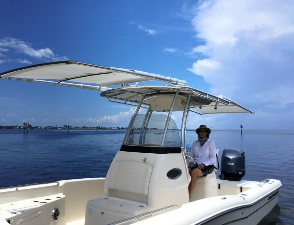 Grady-White 251 Coastal Explorer with Two Boat Shades