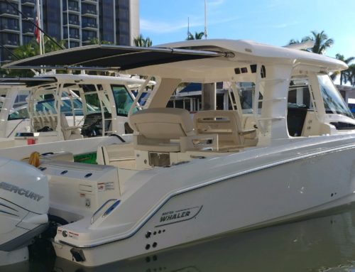 Boston Whaler 350 Realm Debuts with SureShade