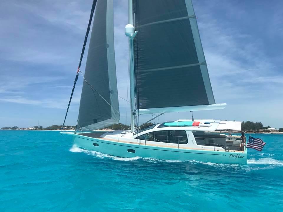 surfari 48 sailing yacht equipped with sureshade sureshade