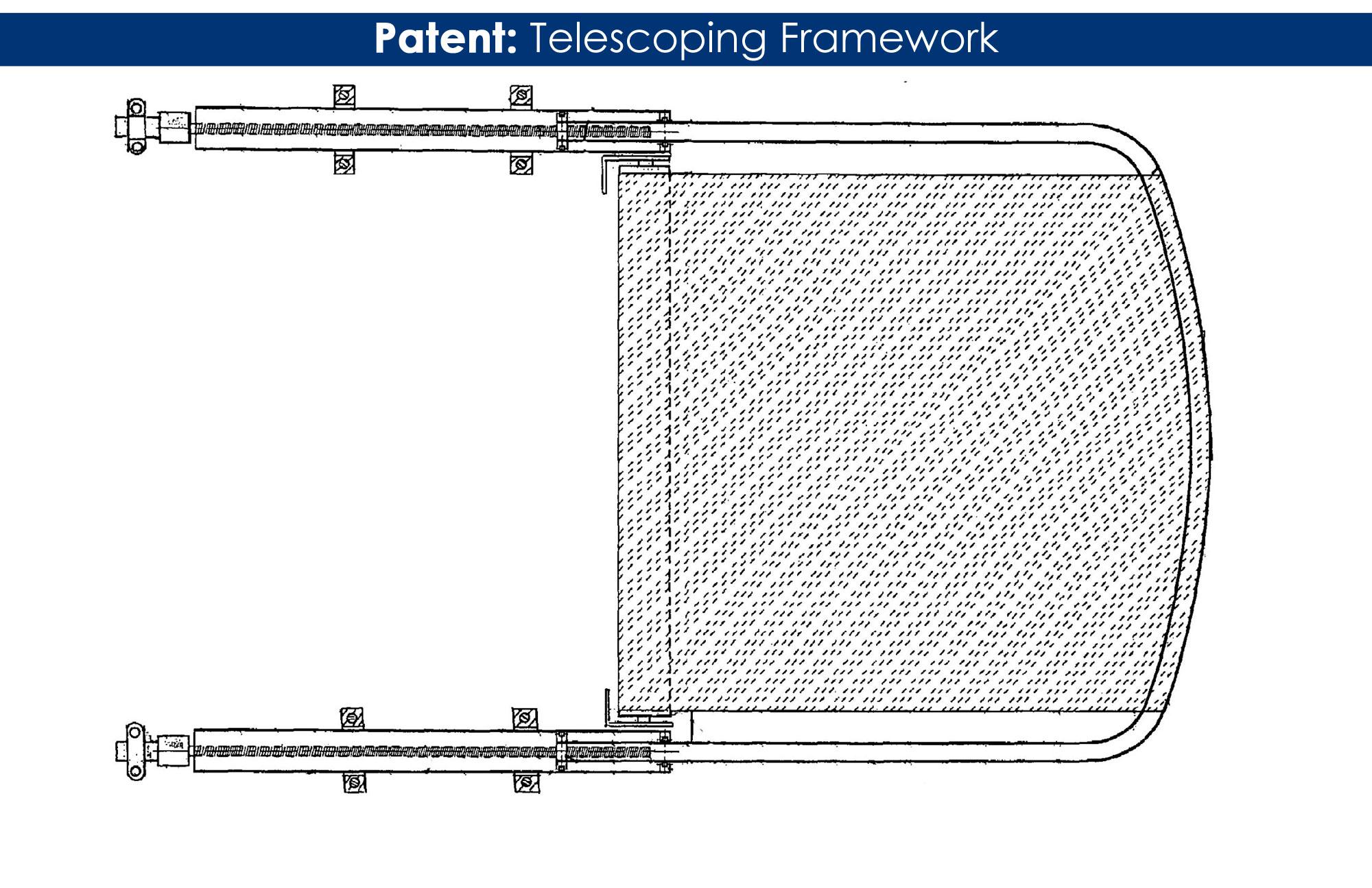 patent telescoping boat shade framework