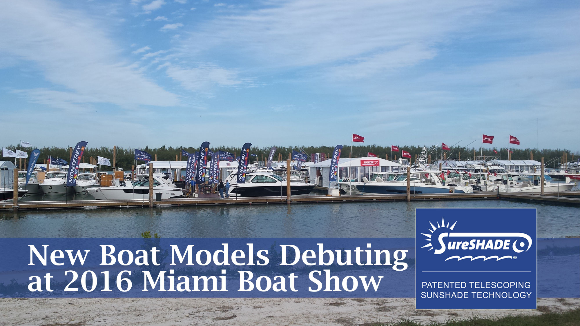 Miami 2016 Boats with SureShade