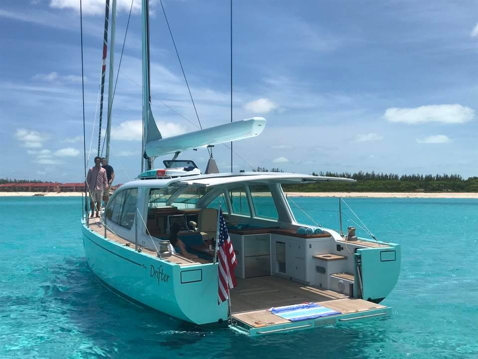 Surfari 48 Sailing Yacht Equipped with SureShade | SureShade